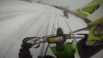 GoPro Dirt Bike Ice Racing With Big Crash