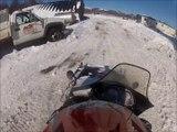 Snowmobile Jump Face Wash  GoPro HD Hero 2