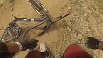 High Speed Down Hill Mountain Biking Crash Utah Go Pro