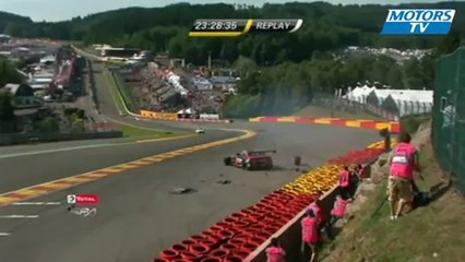 2013 24 Hours of Spa Eau Rouge Crash