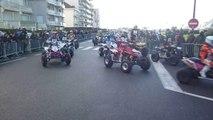 Défilé de quads dans les rues du Touquet le 8/02/14