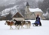 Championnat de France de chiens de traineau dans les Alpes