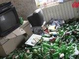 Voici l'appartement rempli de canettes de bières !