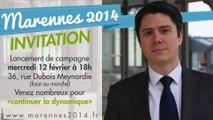 Entretien à Demoiselle FM du 7 février 2014: Mickaël Vallet lance la campagne des Municipales 2014 à Marennes