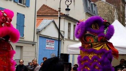 Nouvel an chinois à Puteaux, danse du lion
