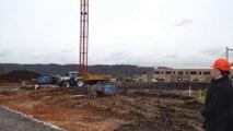 Ecole de Jambes Bellevue; debut du chantier