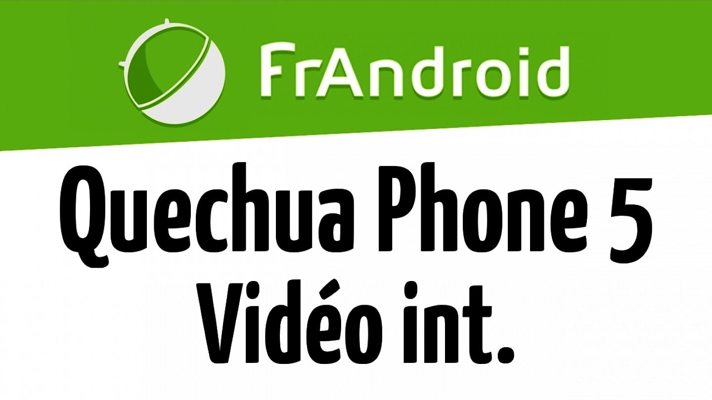 Quechua Phone 5 - Qualité vidéo HD 720p intérieur