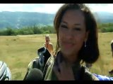 Saut en parachute de Miss Réunion avec l'Armée de l'air