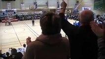Panier de Basket exeptionnel lors du match de N3 entre le Stade Rodez Aveyron Basket et Frontignan