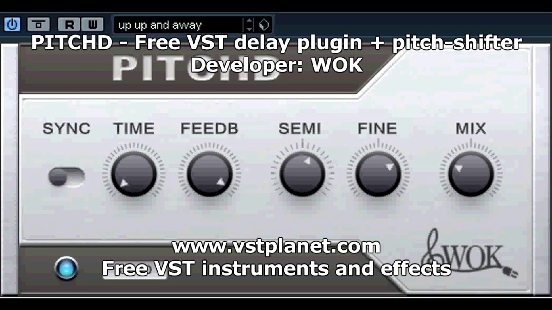 PITCHD - Free VST delay plugin + pitch-shifter - vstplanet com
