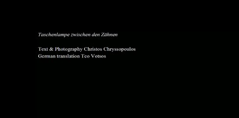 """Christos Chrissopoulos - Thierry Jolif, [HD], """"Taschenlampe zwischen den Zähnen"""""""