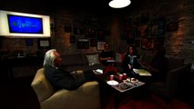 Gayle King in the Toyota Green Room with Michio Kaku