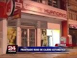 Banda de delincuentes intentaron robar cajero automático en Comas