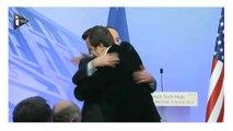 """François Hollande fait un hug au leader des """"pigeons"""""""