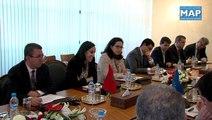 M.Bouaida s'entretient avec une délégation de parlementaires et de chefs d'entreprise européens