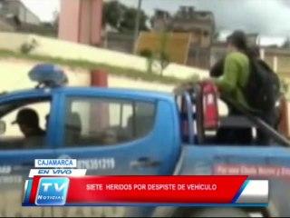 Cajamarca: 7 heridos por despiste de vehiculo 13 02 14