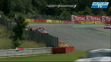 2012 24 Hours of Spa Blancpain Endurance Series Big Crash Ferrari