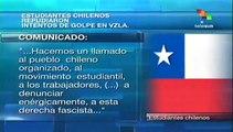 Estudiantes chilenos repudian intento golpista en Venezuela