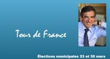 Tour de France - François Fillon soutient les candidats de la droite et du centre, municipales J-22