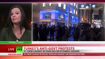 Tear gas & rubber bullets: Violence erupts as cops disperse Turkish protesters