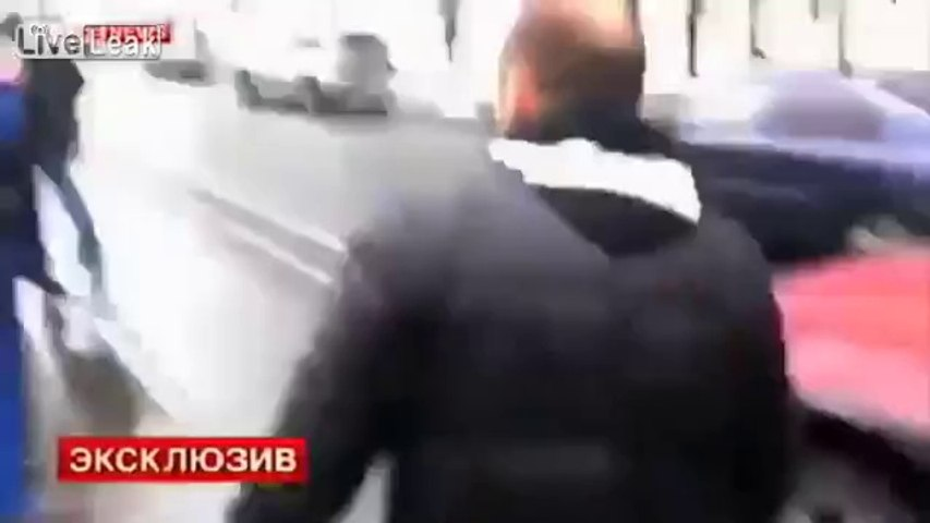 Road rage turns to Hollywood style shoot out in Russia