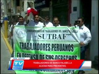 Chiclayo: Trabajadores del Banco Falabella acatan paro preventivo 14 02 14
