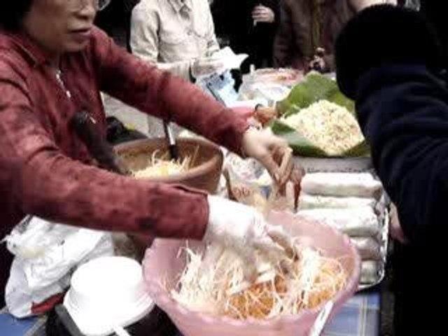 Préparation de la salade de Papaye