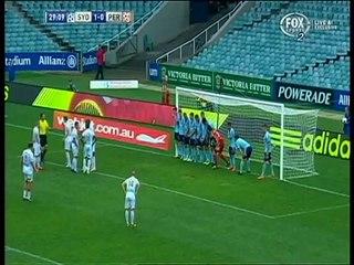 The Best way to save a 6-yard indirect free-kick - Sydney FC Vs Perth Glory [HD]