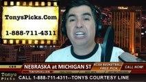 Michigan St Spartans vs. Nebraska Cornhuskers Pick Prediction NCAA College Basketball Odds Preview 2-16-2014