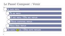 Learn French #Unit 6 #Lesson H = Le passé composé VENIR