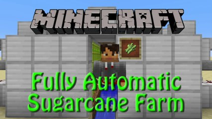 Minecraft: How to build a Fully Automatic Sugarcane Farm, Tutorial for 1.8