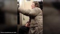La vieille folle de la ligne 5 du métro de Paris