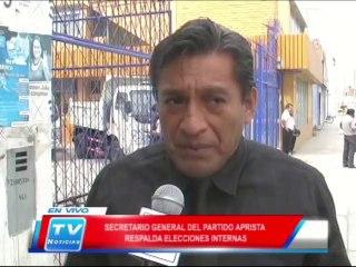 Chiclayo: Secretario general del APRA respalda elecciones internas 18 02 14