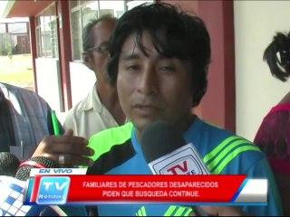 Chiclayo: Familiares de pescadores desaparecidos piden que continue la busqueda 18 02 14