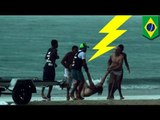 Photo captures lightning striking dead Brazilian woman at beach in Guaruja