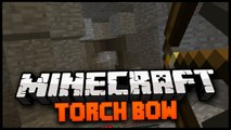 Minecraft Mod Spotlight: TORCH BOW MOD! 1.6.2 - FIRE TORCHES INTO THE DARKNESS!