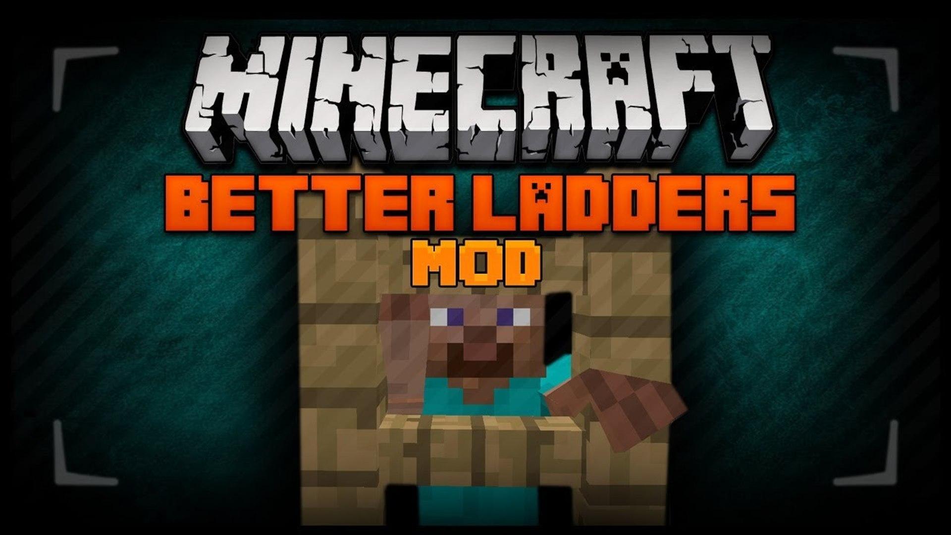 Minecraft Mod Spotlight - RETRACTABLE LADDERS 1.7.4 - BETTER LADDERS ! ROPE LADDERS!