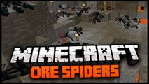 Minecraft Mod Spotlight: ORE SPIDERS MOD 1.6.2 - DIAMOND SPIDERS, EMERALD SPIDERS, + MORE!