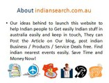 Indian Business Directory, Deals, Blog Australia - Submit Free Listing, Deals, Blog Post.