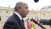 """Ukraine: la France """"a bien l'intention d'agir"""", dit Fabius"""