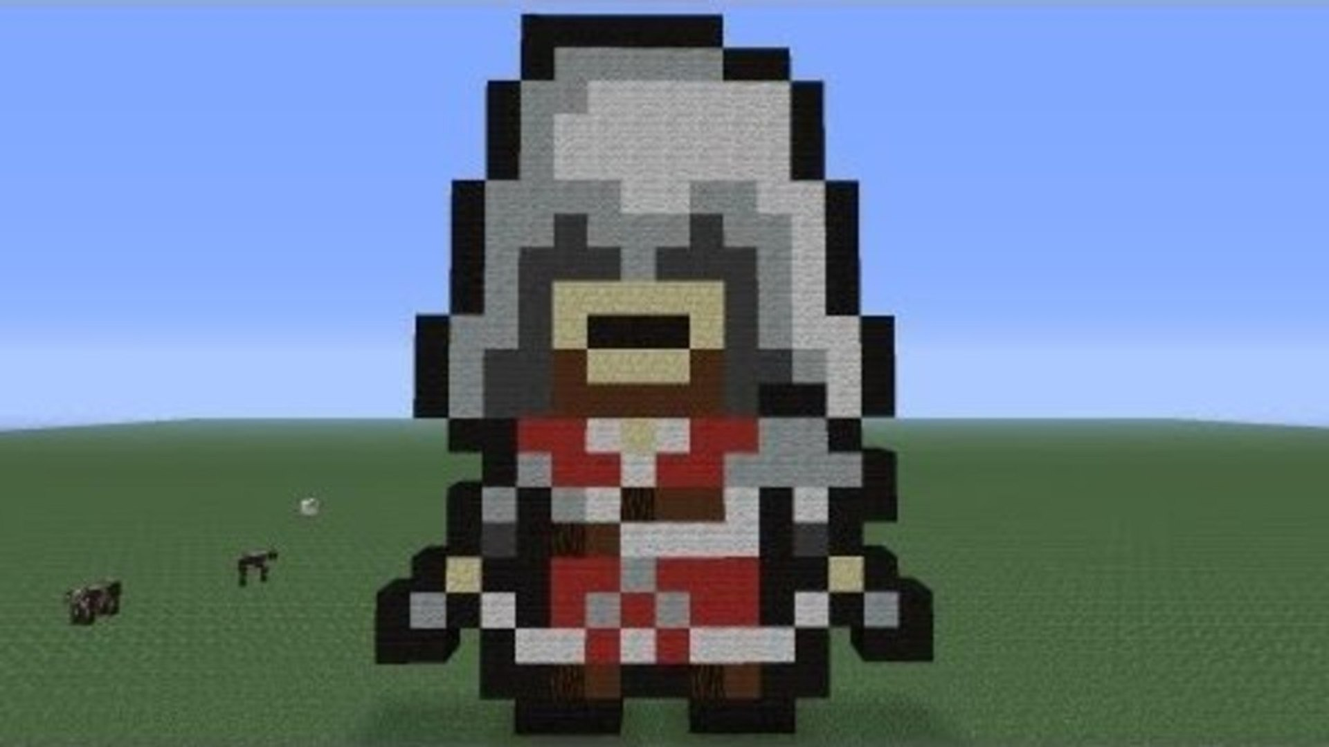Minecraft Pixel Art Ezio Tutorial
