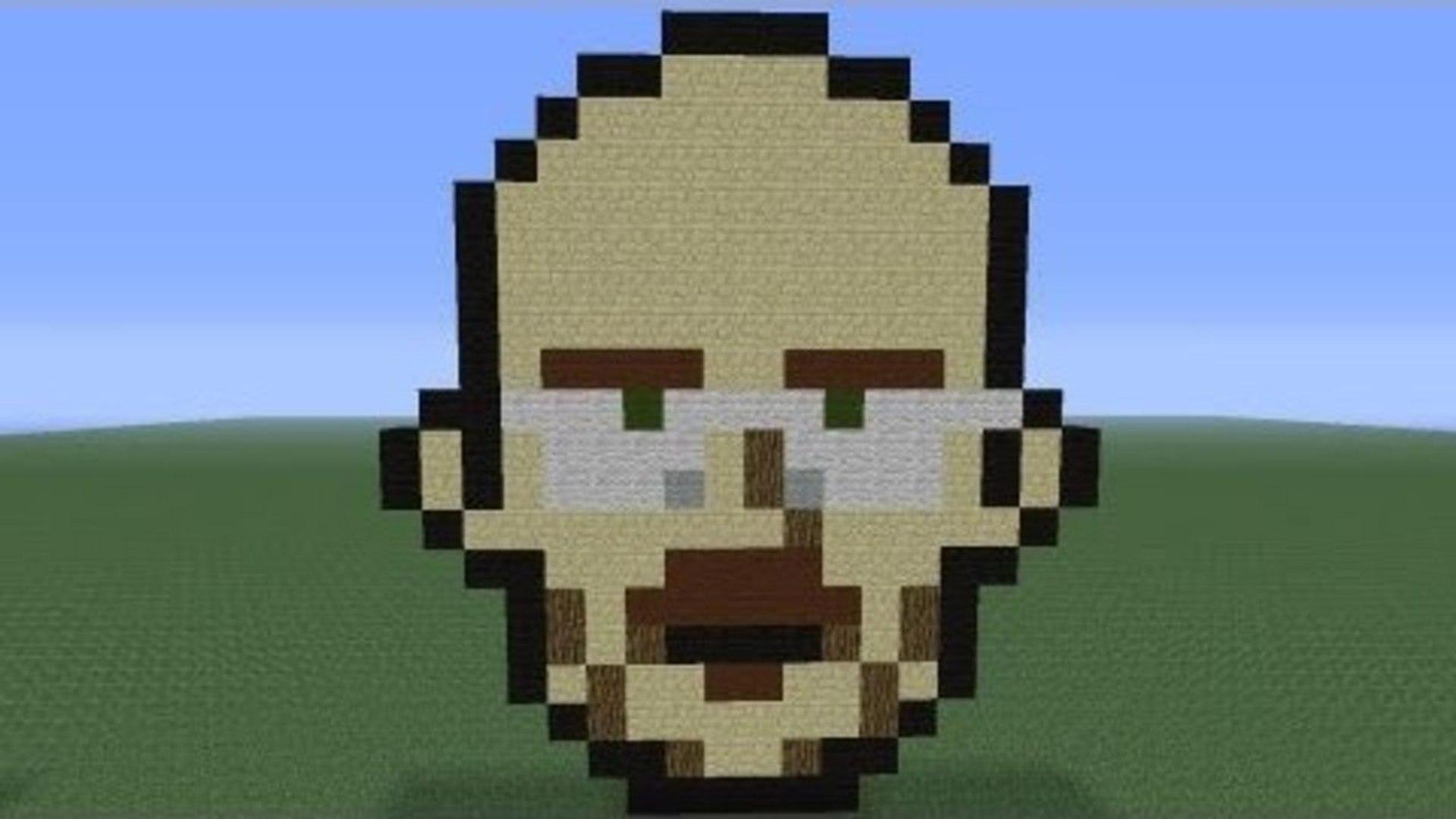 Minecraft Pixel Art Walter White Breaking Bad Tutorial