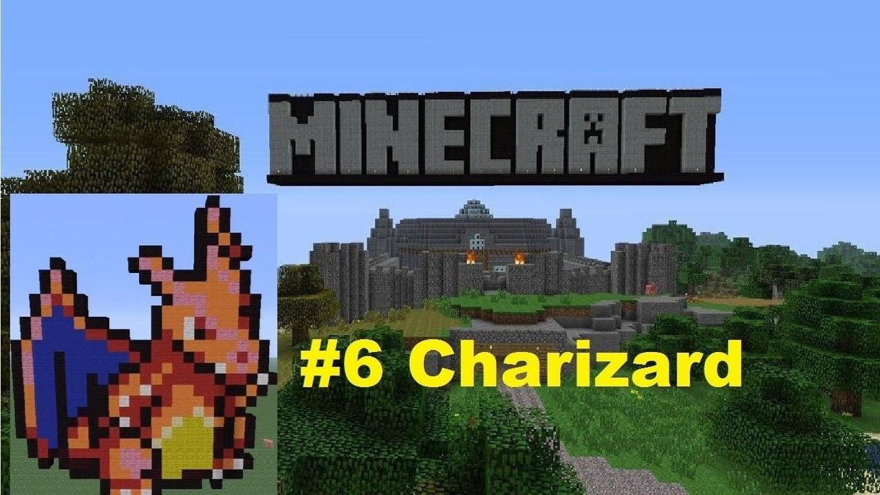 Minecraft Pixel Art The Original 150 6 Charizard Video Dailymotion