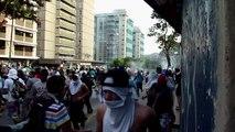 Enfrentamientos en protestas en Caracas
