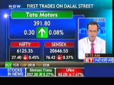 Sensex, Nifty open in red; TCS, Bajaj auto up