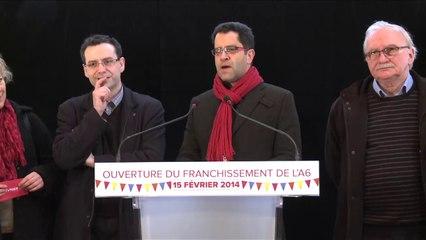 Intervention de Gabriel Amard à l'ouverture du franchissement de l'A6 le 15 février 2014