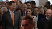 Prince Felipe and princess Letizia of Spain inaugurate ARCO Art Fair 2014 in Madrid.