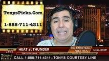 Oklahoma City Thunder vs. Miami Heat Pick Prediction NBA Pro Basketball Odds Preview 2-20-2014