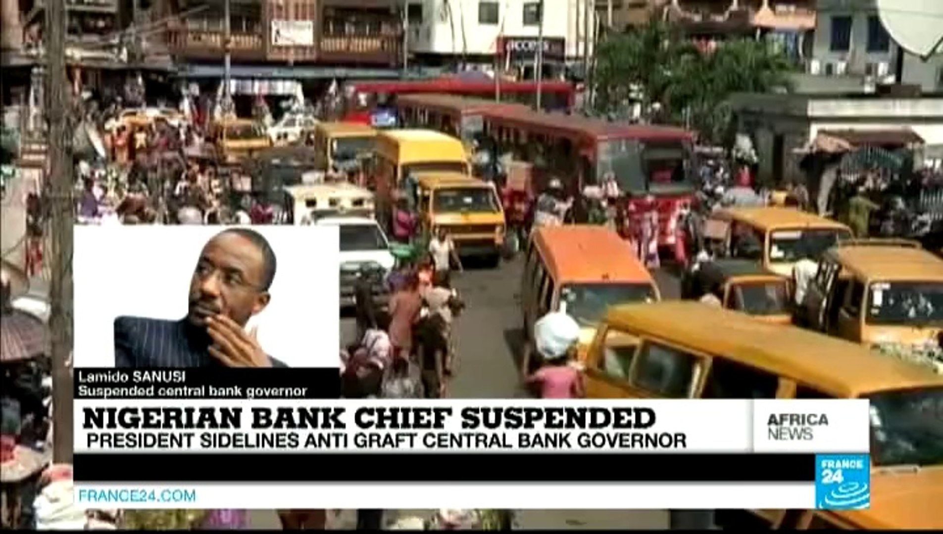 Africa News - Nigerian Central Bank chief suspended