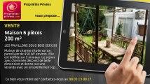 A vendre - maison - LES PAVILLONS SOUS BOIS (93320) - 6 pièces - 200m²